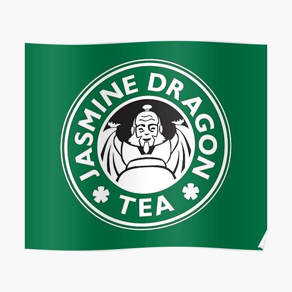 Jasmine Dragon, Uncle Iroh's Tea Shop: Avatar Starbucks Parody (Green) Poster