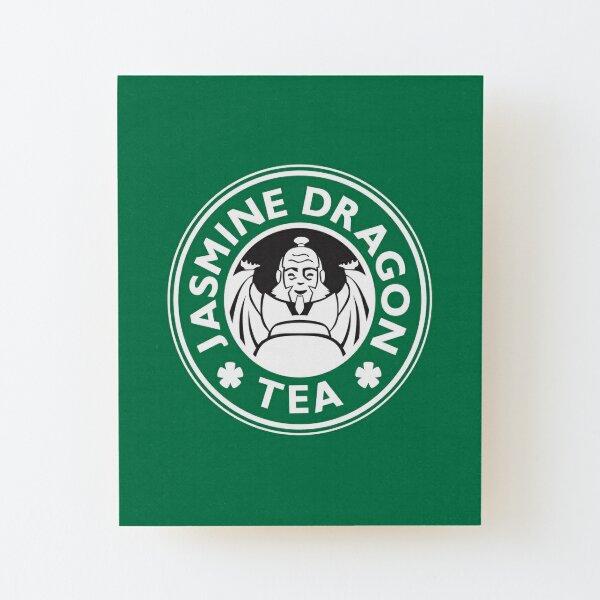 Jasmine Dragon, Uncle Iroh's Tea Shop: Avatar Starbucks Parody (Green) Wood Mounted Print