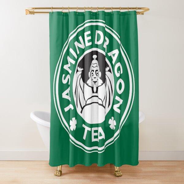 Jasmine Dragon, Uncle Iroh's Tea Shop: Avatar Starbucks Parody (Green) Shower Curtain