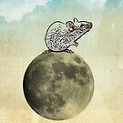 Tiny and the cheese moon by Vin  Zzep