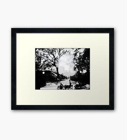 Central Park Structured Framed Print