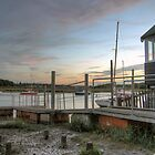 Sunset at Wivenhoe Quayside by Phill Sacre