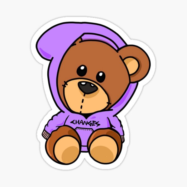 Cambios Belieber Bear Pegatina