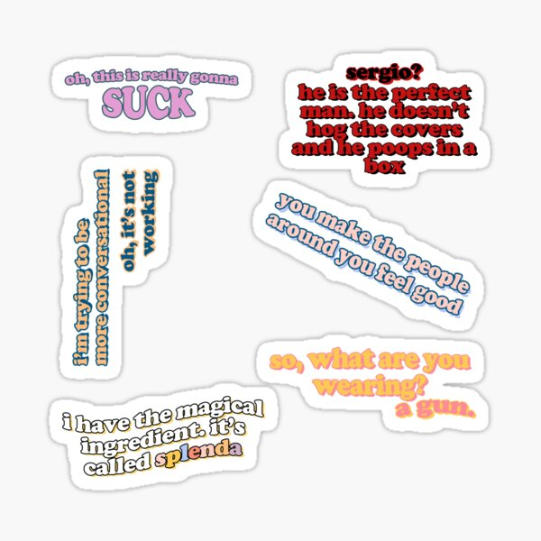 quote pack 1 *purchase size large* Sticker