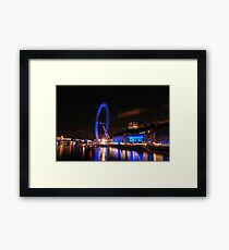 London Eye on night 2 Framed Print
