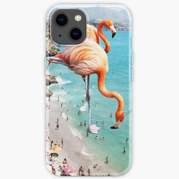 Flamingos on the Beach #redbubble #decor iPhone Soft Case