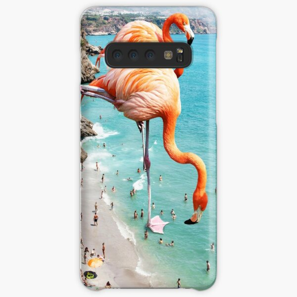 Flamingos on the Beach #redbubble #decor Samsung Galaxy Snap Case