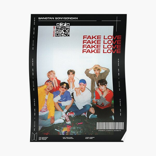 BTS FAKE LOVE Poster