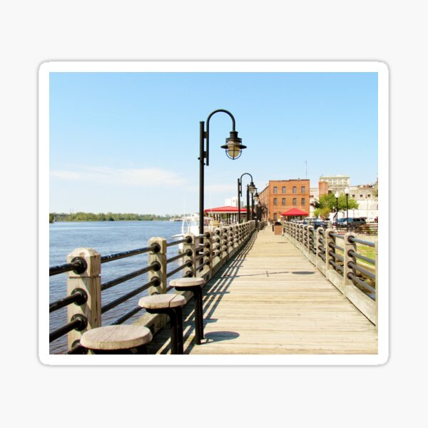 Riverfront In Wilmington Sticker