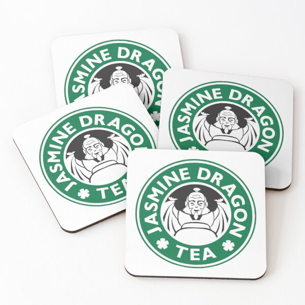 Jasmine Dragon, Uncle Iroh, Avatar-Inspired Design Coasters (Set of 4)