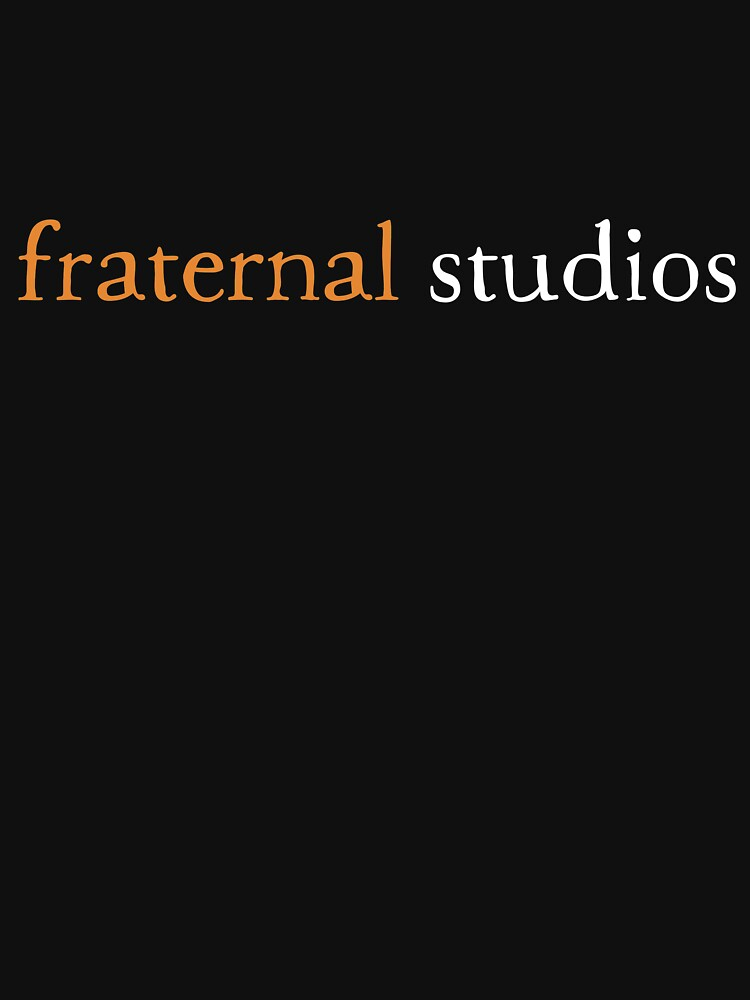 Fraternal Studios - Logo Text - White on Black by FraternalStudio