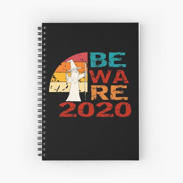 Beware 2020 - Funny Vintage Retro Wizard Spiral Notebook