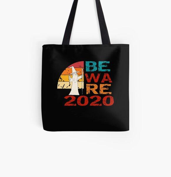 Beware 2020 - Funny Vintage Retro Wizard All Over Print Tote Bag