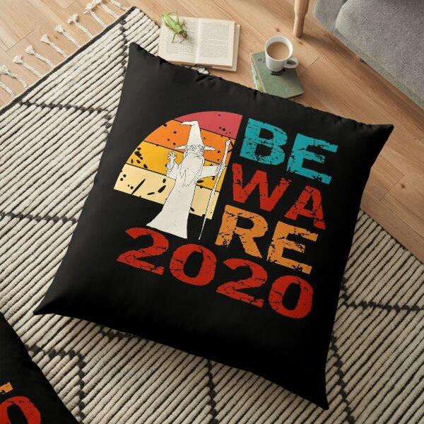 Beware 2020 - Funny Vintage Retro Wizard Floor Pillow