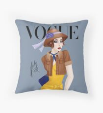 Come on an Adventure With Me ( Blue) Throw Pillow