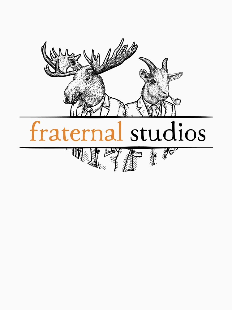 Fraternal Studios Logo - Black on White by FraternalStudio