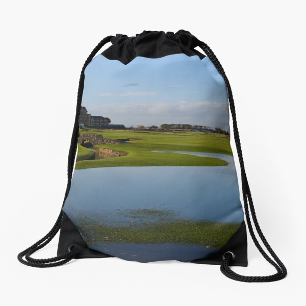 The Old Course in Autumn Drawstring Bag