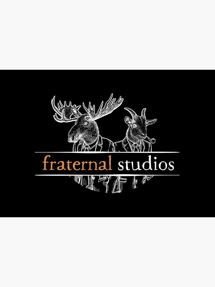 Fraternal Studios Logo - White on Black by FraternalStudio