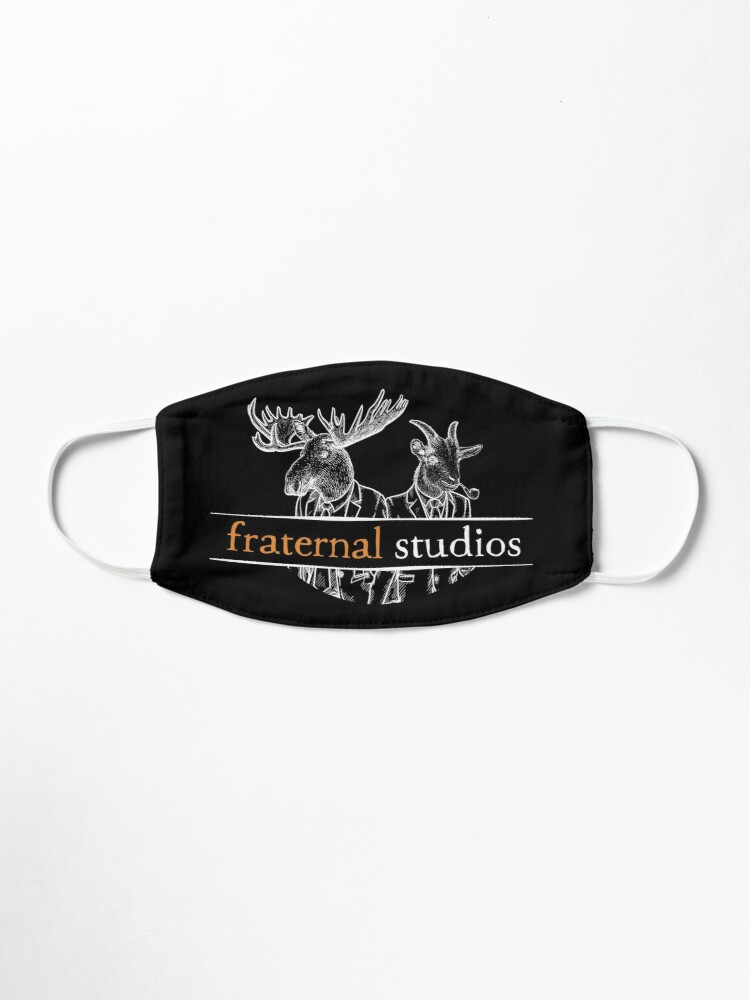 Alternate view of Fraternal Studios Logo - White on Black Mask