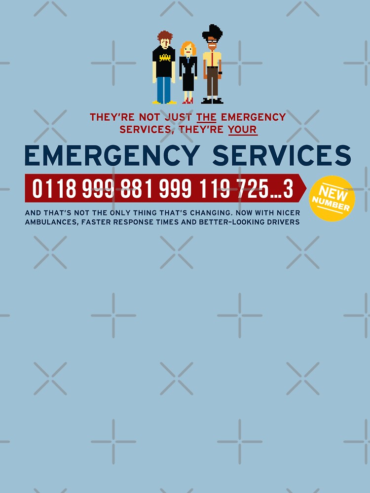 IT Crowd - Emergency Services | Unisex T-Shirt