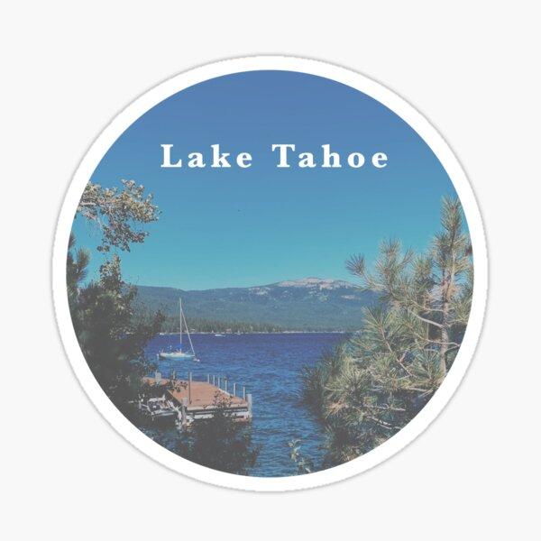 Lake Tahoe Round Sticker Sticker