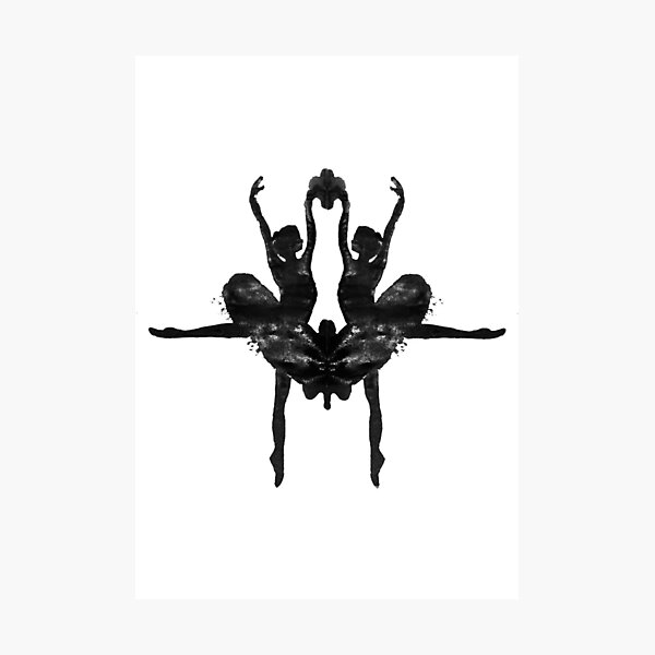 Rorschach Ballerina Photographic Print