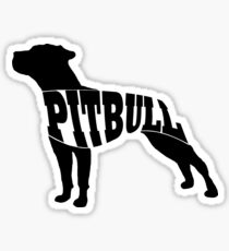 Pitbull black Sticker
