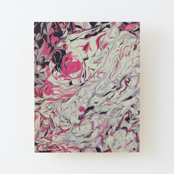 Abstract Music pink Candy Melt pattern Wood Mounted Print