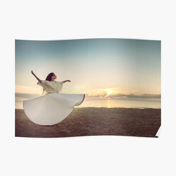 Whirling Dervish at Sunset Poster