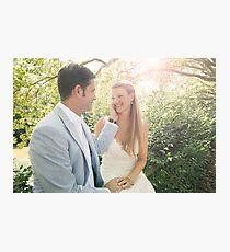 Groom Caressing Bride Photographic Print