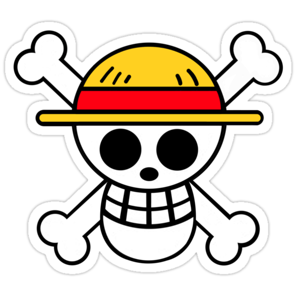 One piece cool skull stickers by porsandi redbubble - Stickers muraux one piece ...