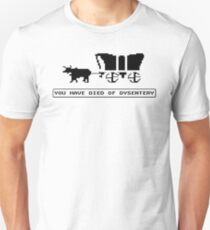 OREGON TRAIL funny died of dysentery gamer T-Shirt