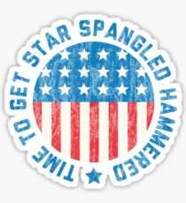 Star Spangled Hammered Sticker