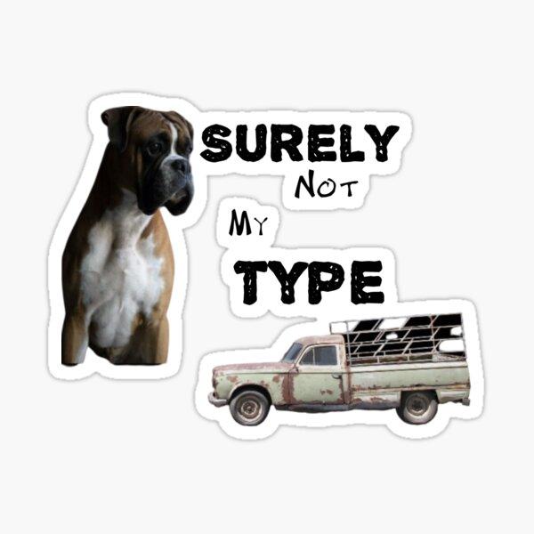 Dog and vintage car Sticker