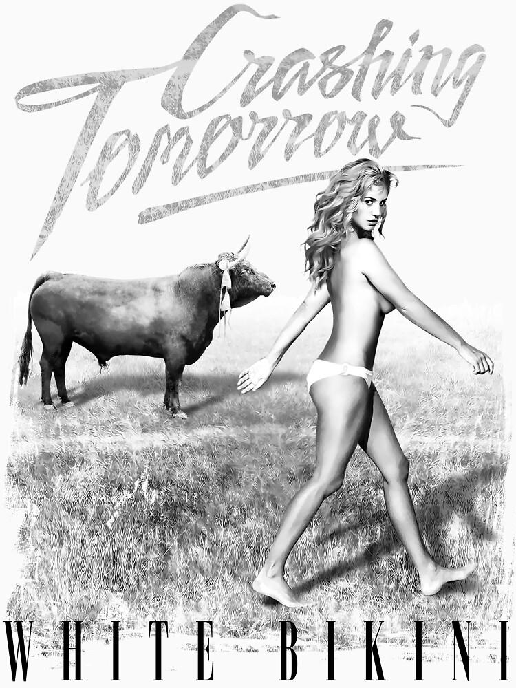 Crashing Tomorrow 'White Bikini' T-Shirt (White) by CrashingTomorro