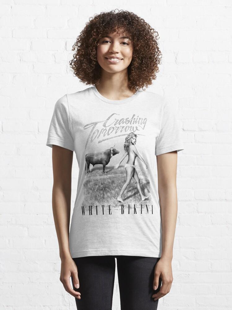 Alternate view of Crashing Tomorrow 'White Bikini' T-Shirt (White) Essential T-Shirt
