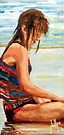 Sit'n in the Surf by Jim Phillips