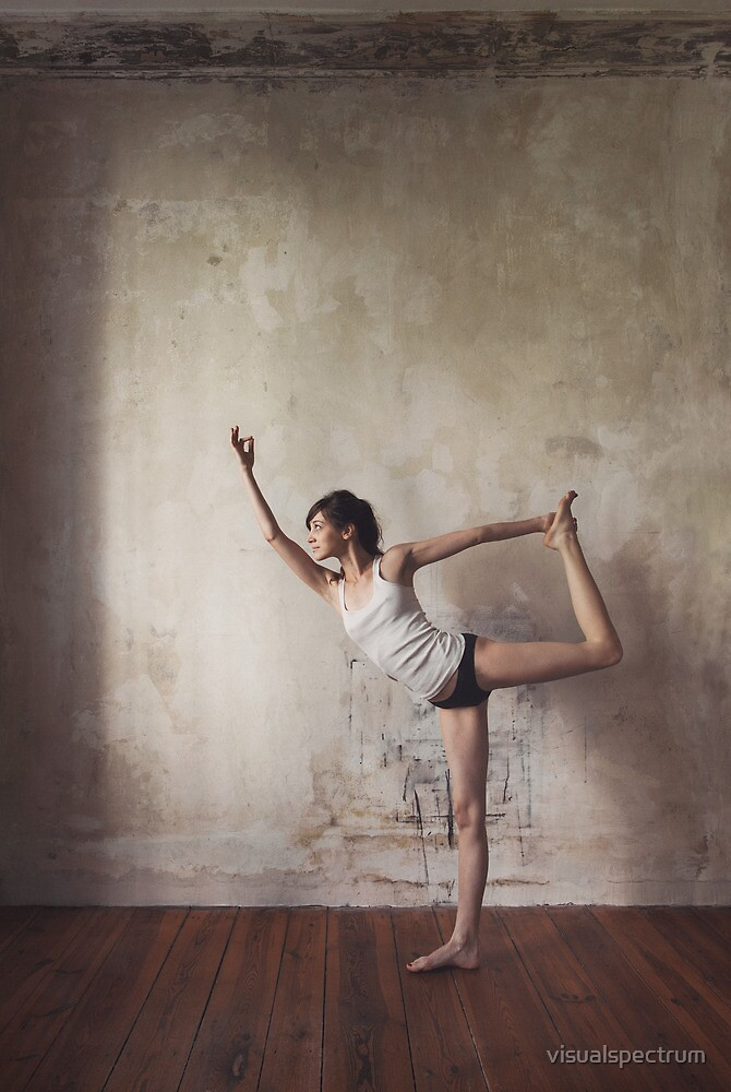 Yoga: Woman Performing Natarajasana by visualspectrum