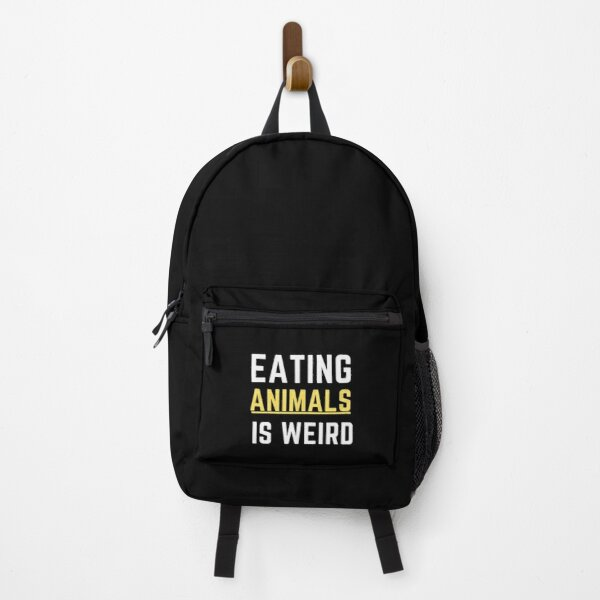 Eating animal is weird Backpack