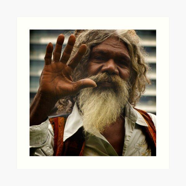 David Gilpilil - legendary Aboriginal actor Art Print
