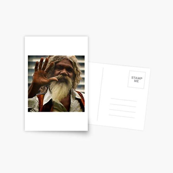 David Gilpilil - legendary Aboriginal actor Postcard