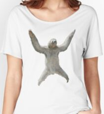 Sloth Hangs Around Your Neck :3 Women's Relaxed Fit T-Shirt