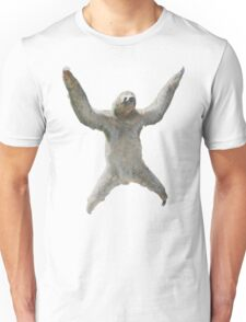 Sloth Hangs Around Your Neck :3 Unisex T-Shirt