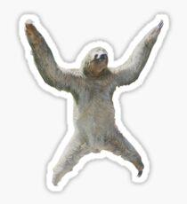 Sloth Hangs Around Your Neck :3 Sticker