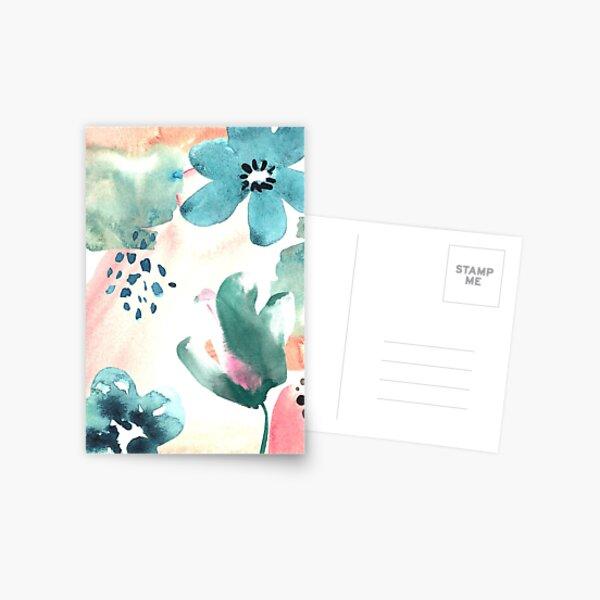 Pastel Flowers Postcard