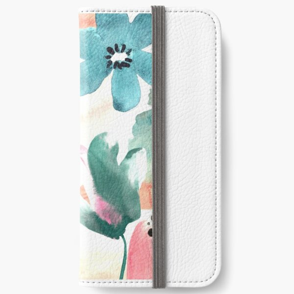 Pastel Flowers iPhone Wallet