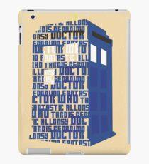 Doctor Type iPad Case/Skin