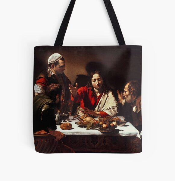 Caravaggio - Supper at Emmaus 1601 All Over Print Tote Bag