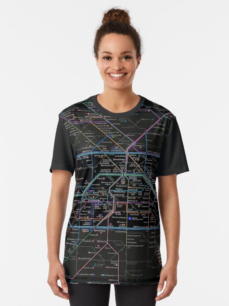 Alternate view of Berlin U-bahn map 2020 Graphic T-Shirt