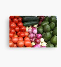 Vegetables at the Otavalo Market Canvas Print
